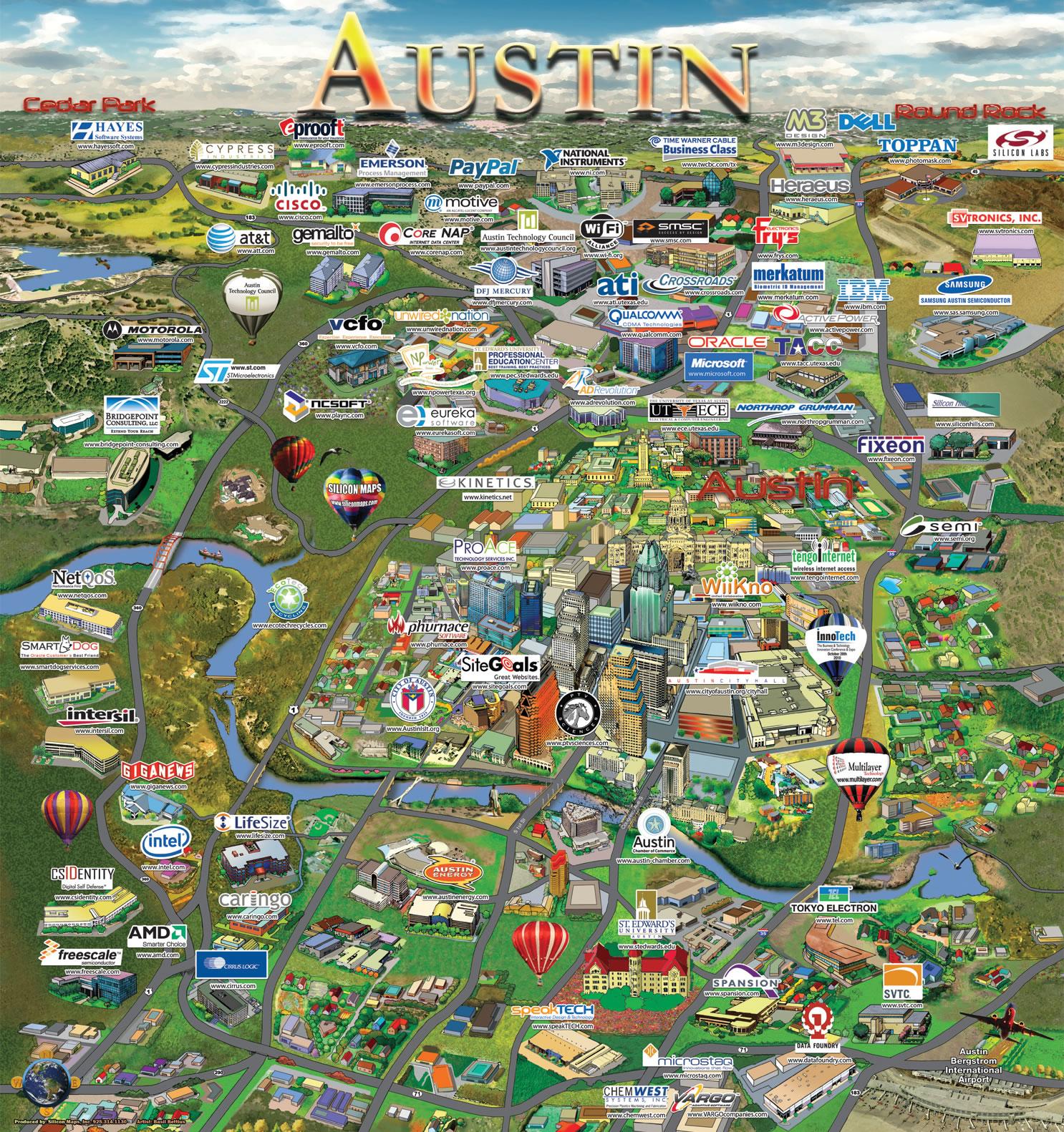 austin map silicon maps