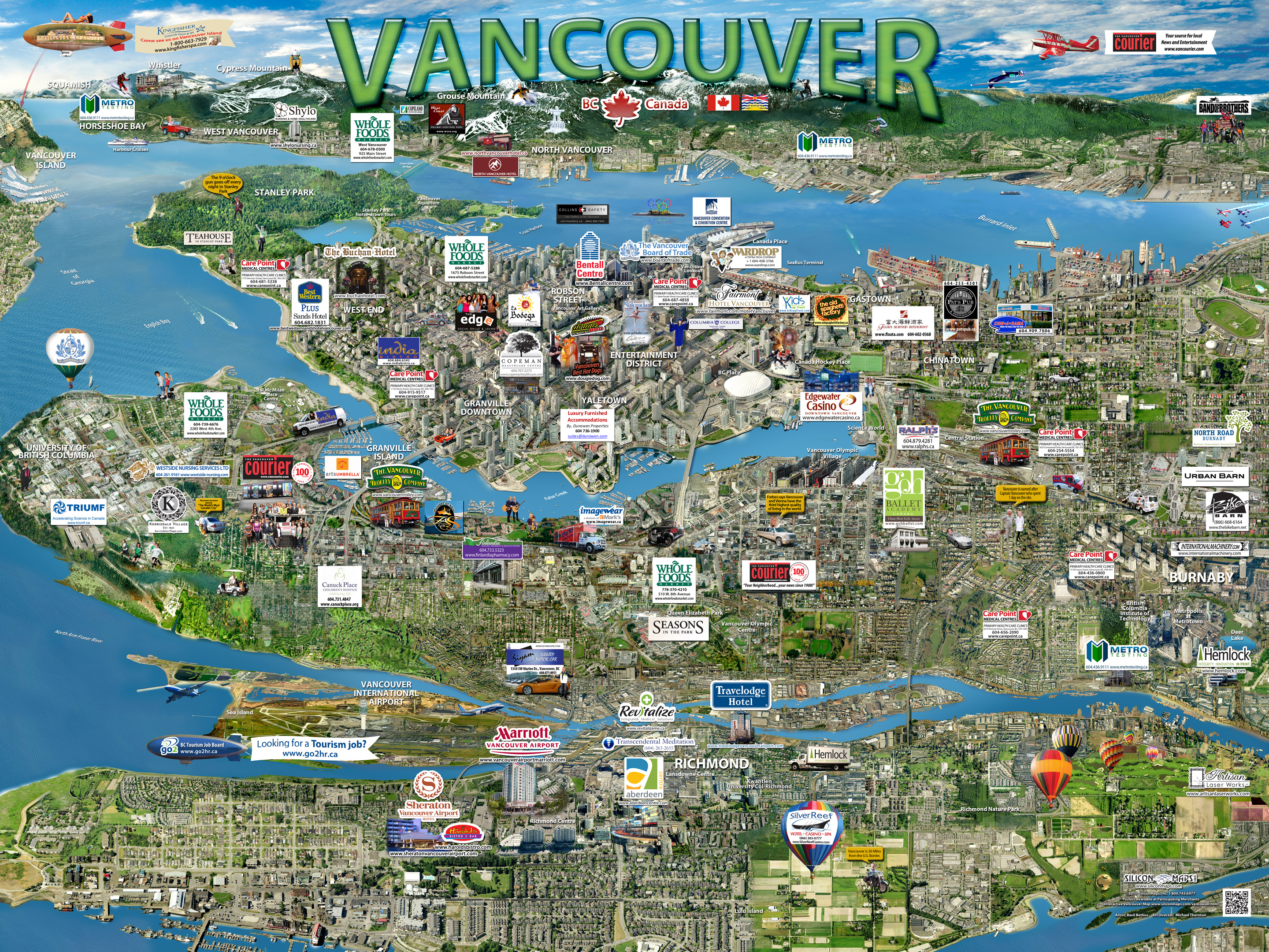 Vancouver Map | Silicon Maps