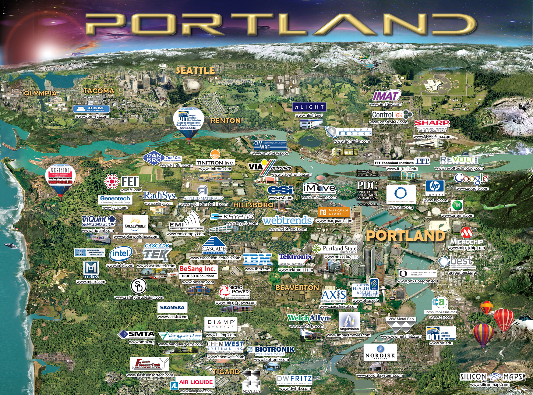 Portland Map Silicon Maps