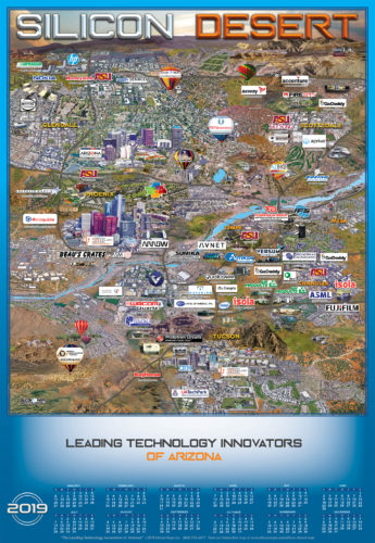 SILICON DESERT 2019 MAP AND CALENDAR