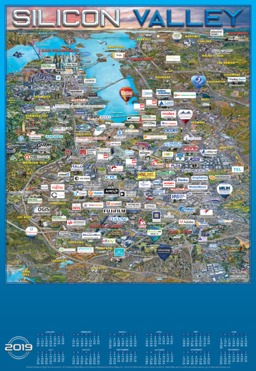 SILICON VALLEY 2019 MAP AND CALENDAR