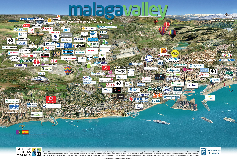 Málaga Spain Silicon Maps - Large map of spain