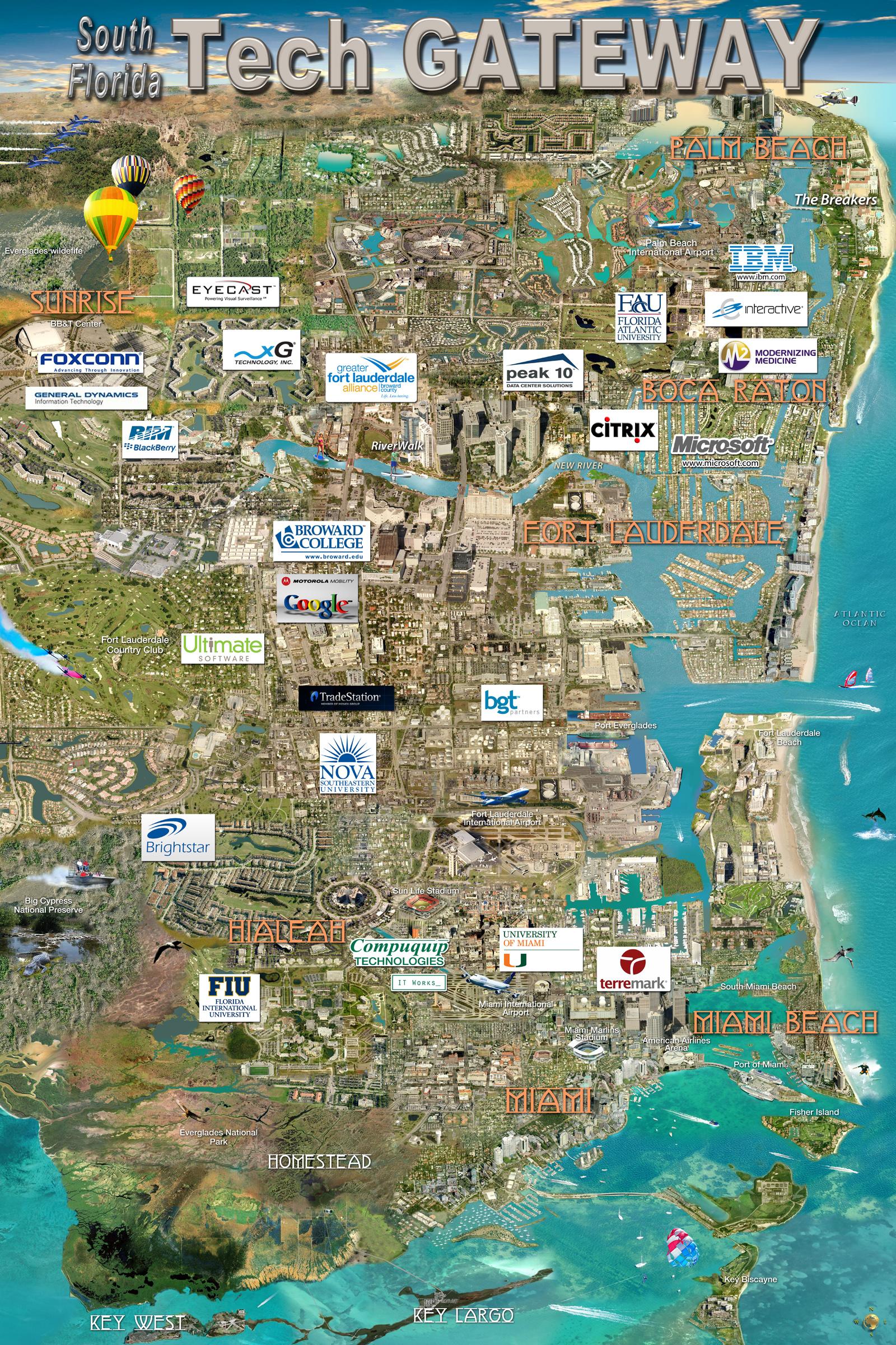 South Florida Tech Gateway Map Silicon Maps