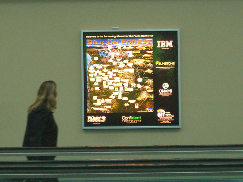 Portland Airport sign - Silicon Forest