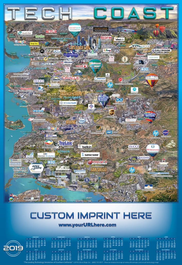 Industry California Map.Tech Coast Silicon Maps
