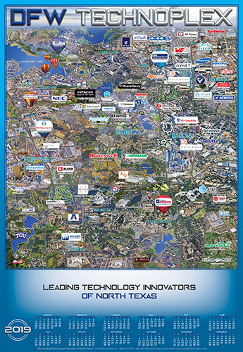 Dallas Fort Worth Texas Technology map